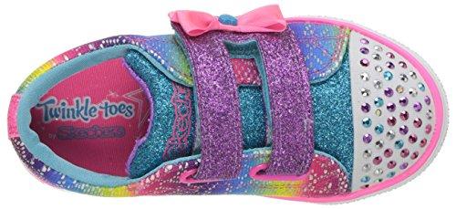 Skechers Baby Mädchen Twinkle Breeze 2.0-Colour Croc Sneaker Mehrfarbig (Multicoloured)