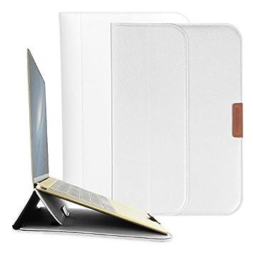 Funda para ordenador portátil de 12/13 pulg; funda Morecoo para portátil Macbook, piel de PU resistente al agua para Macbook plateado 13 pulgadas: ...