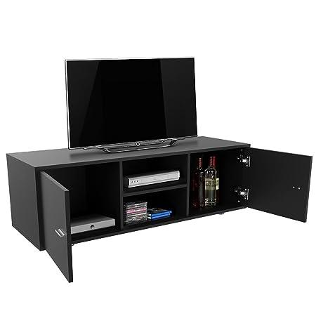 Tinkertonk Modern Tv Unit Tv Cabinet Tv Stand Black Matt And Shelf