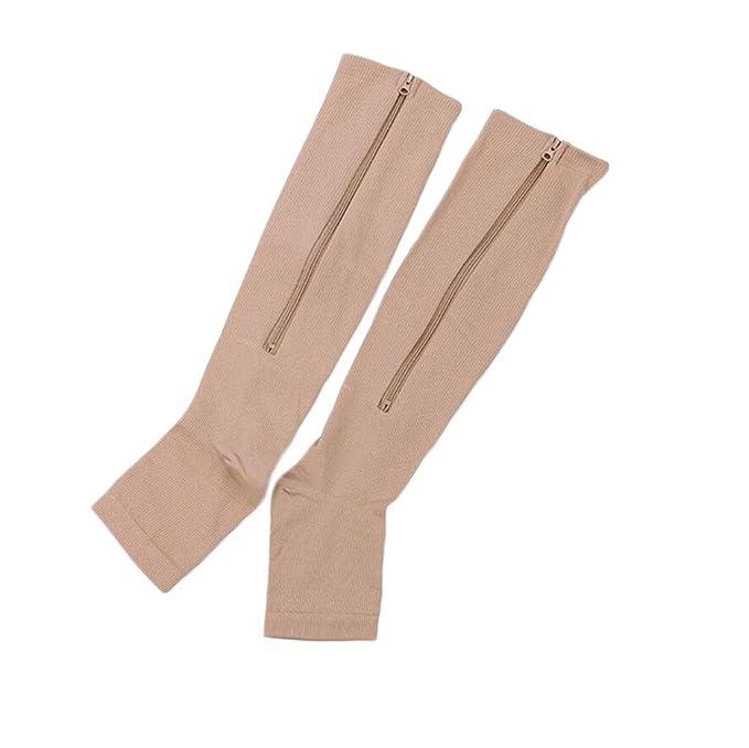 FEIYUESS Calcetines de compresión Mujeres y hombres Medias de compresión perfectas Enfermera Running Sport (Color