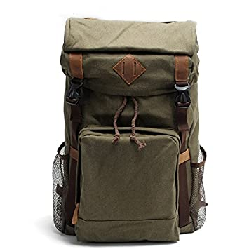 Backpack_Retro Retro Lienzo Mochila Bolsa de viaje Casual Plaza Vertical 31cm*15cm*52cm, el ejército verde: Amazon.es: Deportes y aire libre