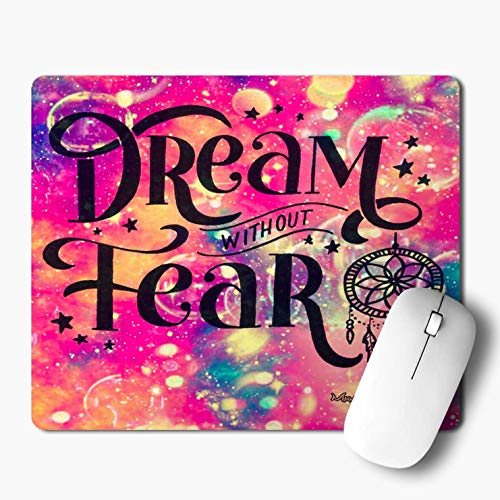 iKraft Dream Without Fear Printed Personalized Mouse Pad-Rectangle Mouse Pad Mousepad