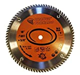 "ORANGE TORNADO 10"" 80 Tungsten Carbide Tooth Saw Blade for Wood"