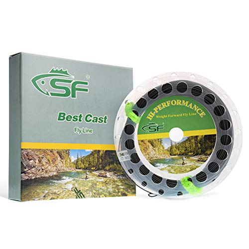 SF Full Sink Line Fly Fishing Line Weight Forward Taper WF5S IPS 3-4 Pale Grey