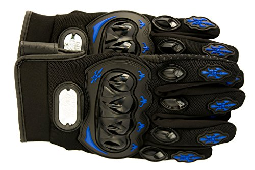 Premium Full Finger Motorcycle Gloves - Breathable Non-Slip - Ideal for Cycling, Motorcycle, Hiking, Camping, Tactical Airsoft, Paintball, ATV Riding - Perfect Fit For Men and Women (XL, Navy)