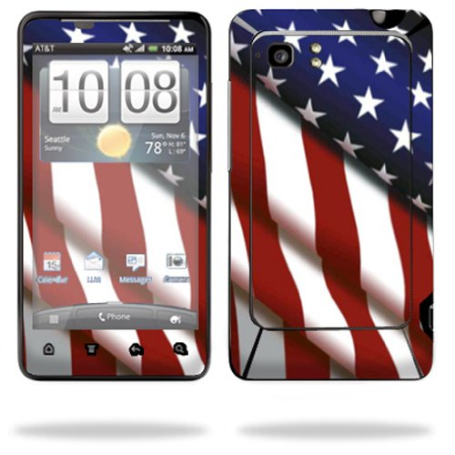 Mightyskins Protective Vinyl Skin Decal Cover for HTC Vivid 4G PH39100 B AT&T Cell Phone wrap sticker skins American Pride (Htc Cover Ph39100)