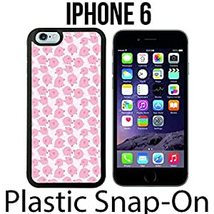 Cute Pig Pattern Custom made Case/Cover/skin FOR iPhone 6 -Black- Plastic Snap On Case ( Ship From CA) by mcsharks