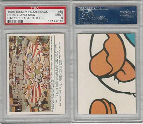 1965 Donruss, Disney Puzzleback, 65 Mad Hatter's Tea Party, PSA 9 -