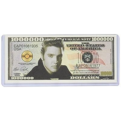 Elvis Presley Million Dollar Bill with Bill Protector: Toys & Games