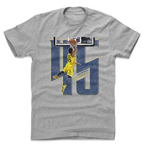 500 LEVEL Donovan Mitchell Cotton Shirt Large Heather Gray - Utah Basketball Men's Apparel - Donovan Mitchell Number B WHT