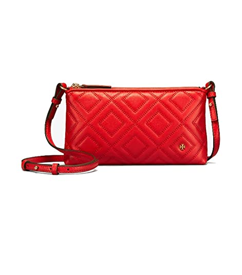 183056efa2b Tory Burch Fleming Quilted Leather Crossbody Bag (Exotic Red ...