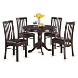 Cheap East West Furniture HART5-CAP-C 5-Piece Kitchen Table Set, Cappuccino Finish