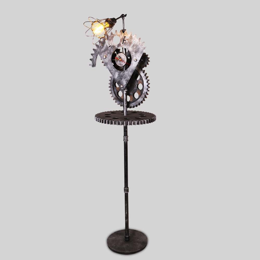 Im europäischen Stil Stehlampe Serie LOFT Industrial Retro Wind Dekorative kreative Rotary Gear Eisen Stehleuchte Bekleidungsgeschäft Bar Stehleuchte - Retro-Stehlampe
