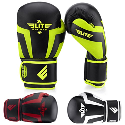 Elite Sports NEW ITEM Standard Adult Kickboxing, Muay Thai Sparring Training Boxing Gloves
