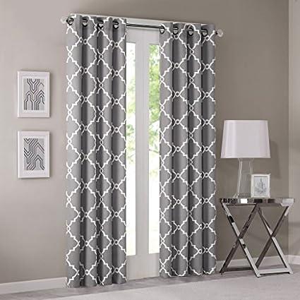 Amazon Com Grey Curtains For Living Room Modern Contemporary