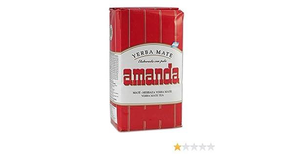Yerba mate Amanda Roja 500gr: Amazon.es: Alimentación y bebidas