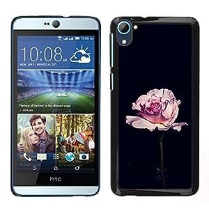 [Neutron-Star] Snap-on Series Teléfono Carcasa Funda Case Caso para HTC Desire D826 [Rose Black Romantic Minimalist Flower]