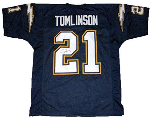 Signed LaDainian Tomlinson Jersey - #21 Navy - JSA Certified - Autographed NFL Jerseys ()
