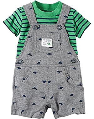 Carter's Baby Boys 2pc Set Overall And Top
