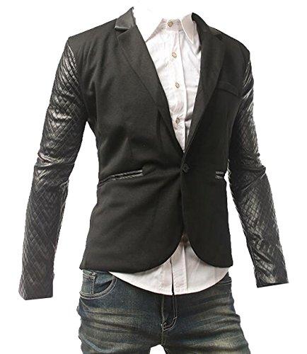 Vogue Leather Blazer - 3