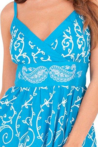 Crois Paisley Fleur Motif Front Robe Cachemire Blue Rayures Pistachio Imprime 2 Femmes wTxvqqY