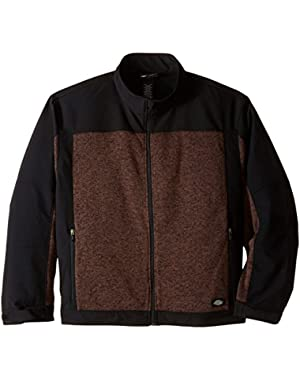 Men's Big Full Zip Softshell Jacket
