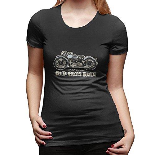 Old Guys Rule Loud Fast Built To Last Ladies' Shirt (Old Guys Mugs Rule)