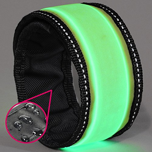 GlowHERO LED Slap Bracelet - The Original Glow Band - As Seen On TV- Ultra Bright High Visibility Reflective Safety Slap Band (Neon Green, -