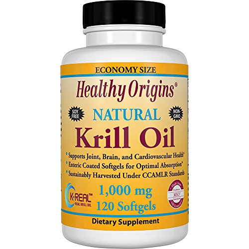 Healthy Orgins Krill Oil Gels, 1,000 mg, 120 Count