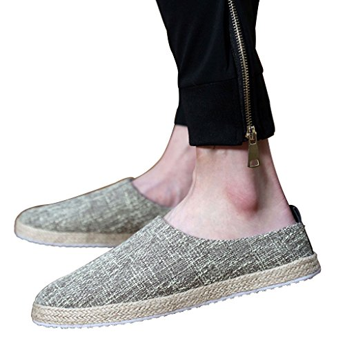 Scarpe casual Colore di dimensioni tela Pantofole uomo CN41 Cachi di Baotou Nero Scarpe di paglia estivo XIANG shoes pigre EU40 LI SHOP canvas lino SHI da UK7 Pantofole all'esterno XxTSYT