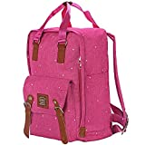 SENPAIC Casual Laptop Backpack for Students Girls Daypack School Backpack Book Bags, Rose