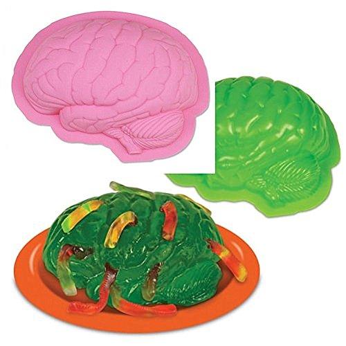 Wocuz Human Brain Shape Pan Baking Silicone Halloween Cake Mold Pudding Jello Dessert (Halloween Themed Hot Dogs)