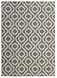 ( 8' x 10' Area Rug ) Diagona Designs Contemporary Moroccan Trellis Geometric Design Area Rug, 94' W x 118' L, Gray / Ivory (JAS2033)