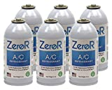 ZeroR Z134 Refrigerant - R134a Replacement - 6 Cans - Made in USA
