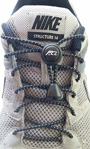 Fast Compete Laces No-tie Reflective Elastic Button-Lock...