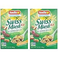 Familia Swiss Muesli (No Sugar Added) Cereal - 32 oz (Pack of 2)