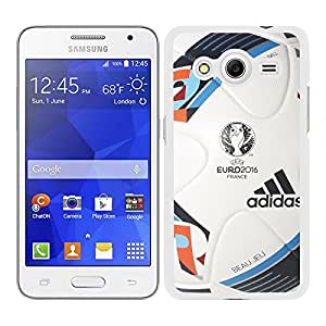 Funda carcasa para Samsung Galaxy Core 2 diseño balón Eurocopa Francia 2016 borde blanco