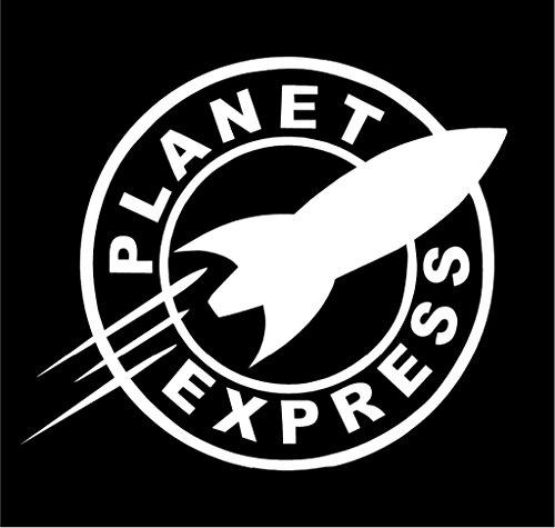 [Futurama Planet Express Vinyl Decal Sticker | Cars Trucks Vans Walls Laptops Cups | White | 5.5 inches |] (Futurama Leela Costumes)
