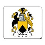 Molton Family Crest Coat of Arms Mouse Pad