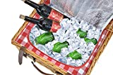 Picnic Basket Set for 4 Person | Insulated Red