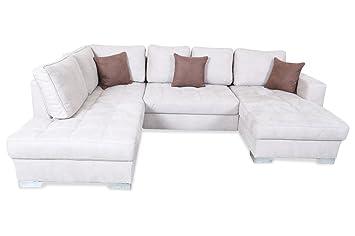 Sofa Wohnlandschaft Arles Creme Luxus Microfaser Creme Amazon