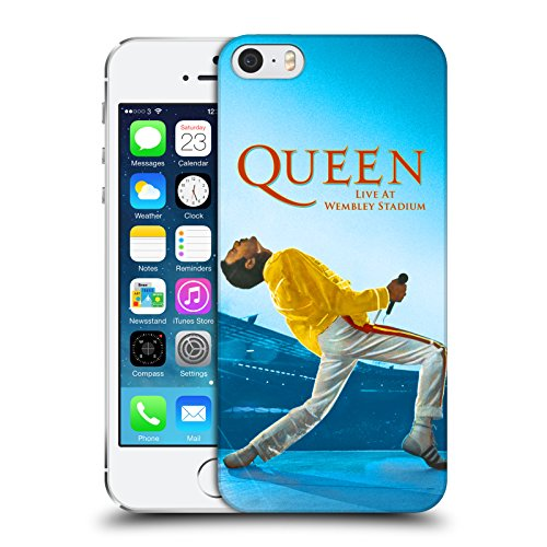 Officiel Queen Freddie Mercury Live At Wembley Art Clé Étui Coque D'Arrière Rigide Pour Apple iPhone 5 / 5s / SE