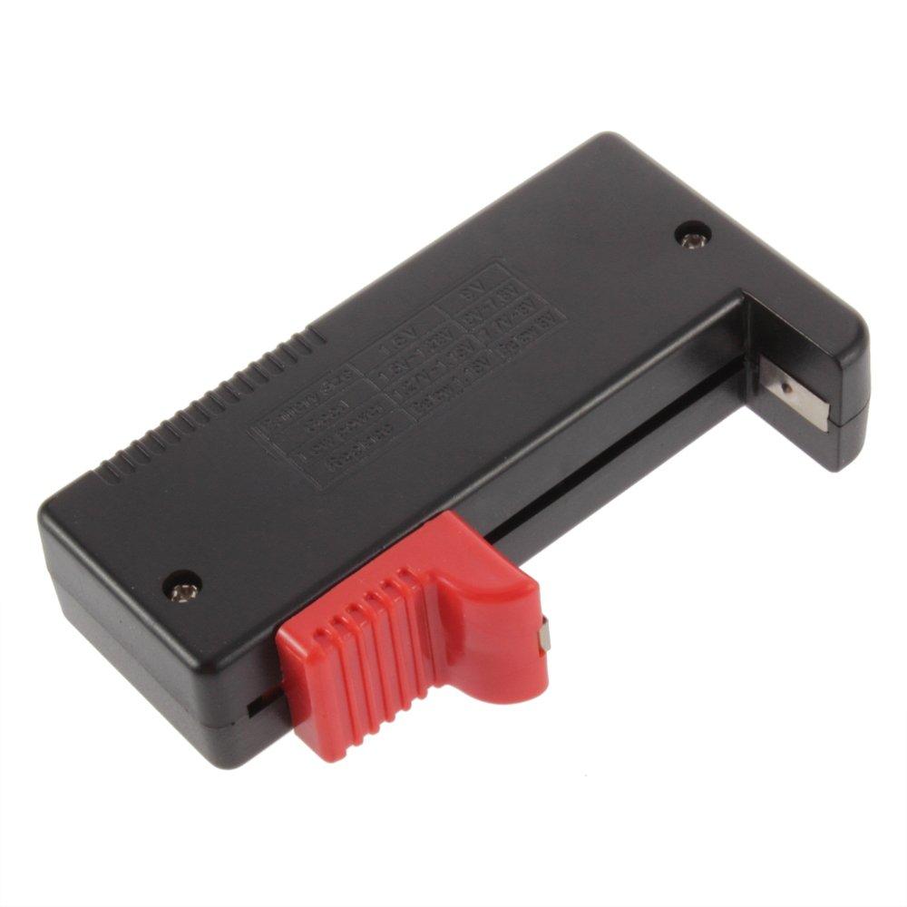 DKEY Tester per Batterie con Display Digitale da 1,5 a 9V normali e ricaricabili e molte altre Per AA AAA C D e Bottone