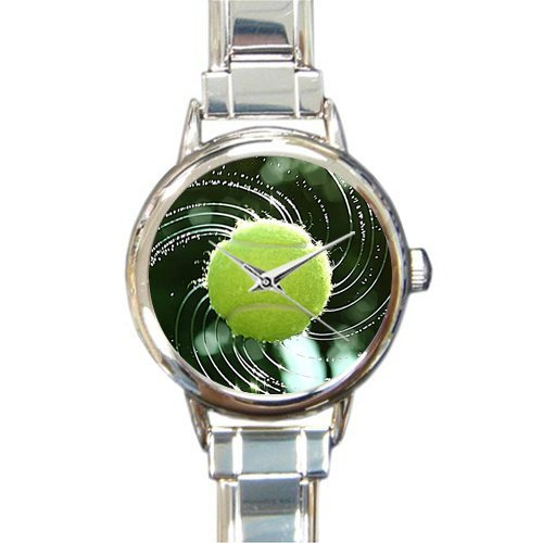 Tennis Ball Charm Italian - Friends Gifts/New Year Gifts Stylish Tennis Ball Art Round Italian Charm Watch