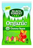 Black Forest Organic Gummy Bears, 4 Ounce Peg Bag - 12 per case.