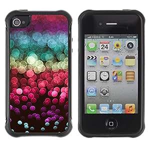 LASTONE PHONE CASE / Suave Silicona Caso Carcasa de Caucho Funda para Apple Iphone 4 / 4S / glitter sea sun reflection red purple