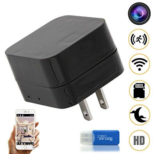 Night Vision WIFI Hidden Spy Camera, Wireless USB Charger Mi