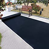 Black Rectangle Polypropylene Disposable Party Rug (Size : 1.2m*20m)