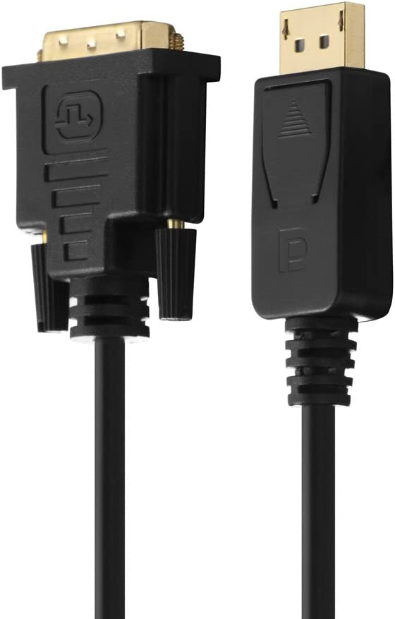 connettore DisplayPort - connettore DVI single link HDSupply DC045-020 Cavo di collegamento DisplayPort // DVI nero 2,00 m contatti dorati