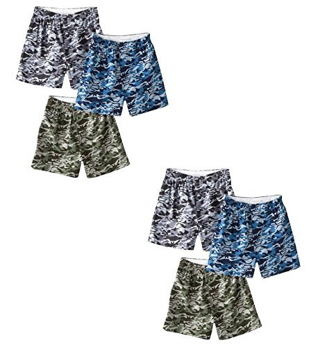 Fruit of the Loom Men's 6 Pack Assorted Camo/Camouflage Woven Boxers - 2X-Large